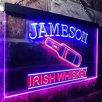 Amazon.com: zusme Jameson - Cartel de neón con luces LED ...