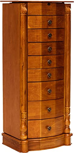 Roman Honey Oak Jewelry Armoire by Hives Honey