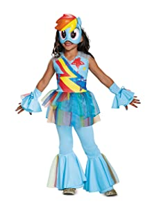 Rainbow Dash Movie Deluxe Costume, Blue, X-Small (3T-4T)