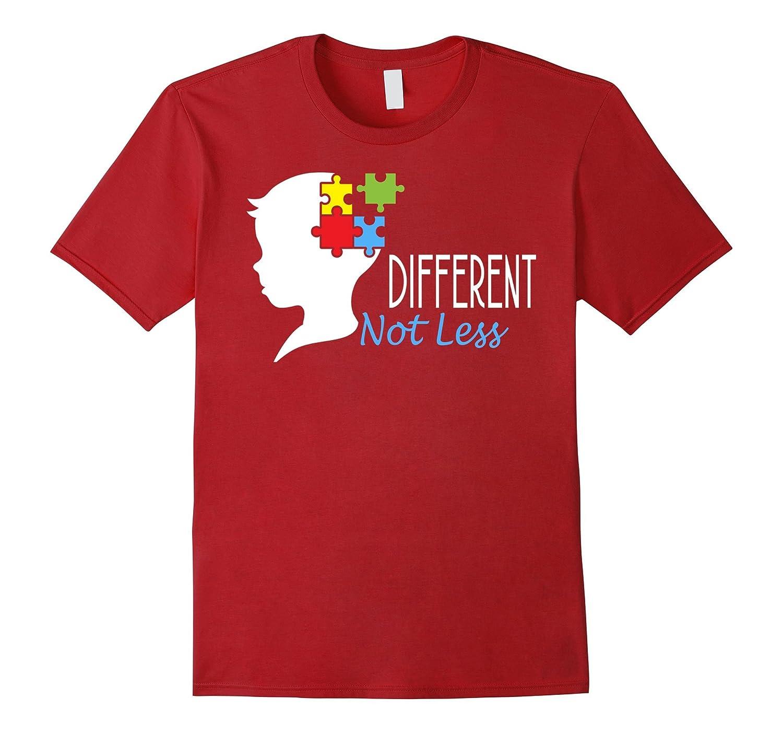 Autism awareness shirts - Different Not Less-T-Shirt