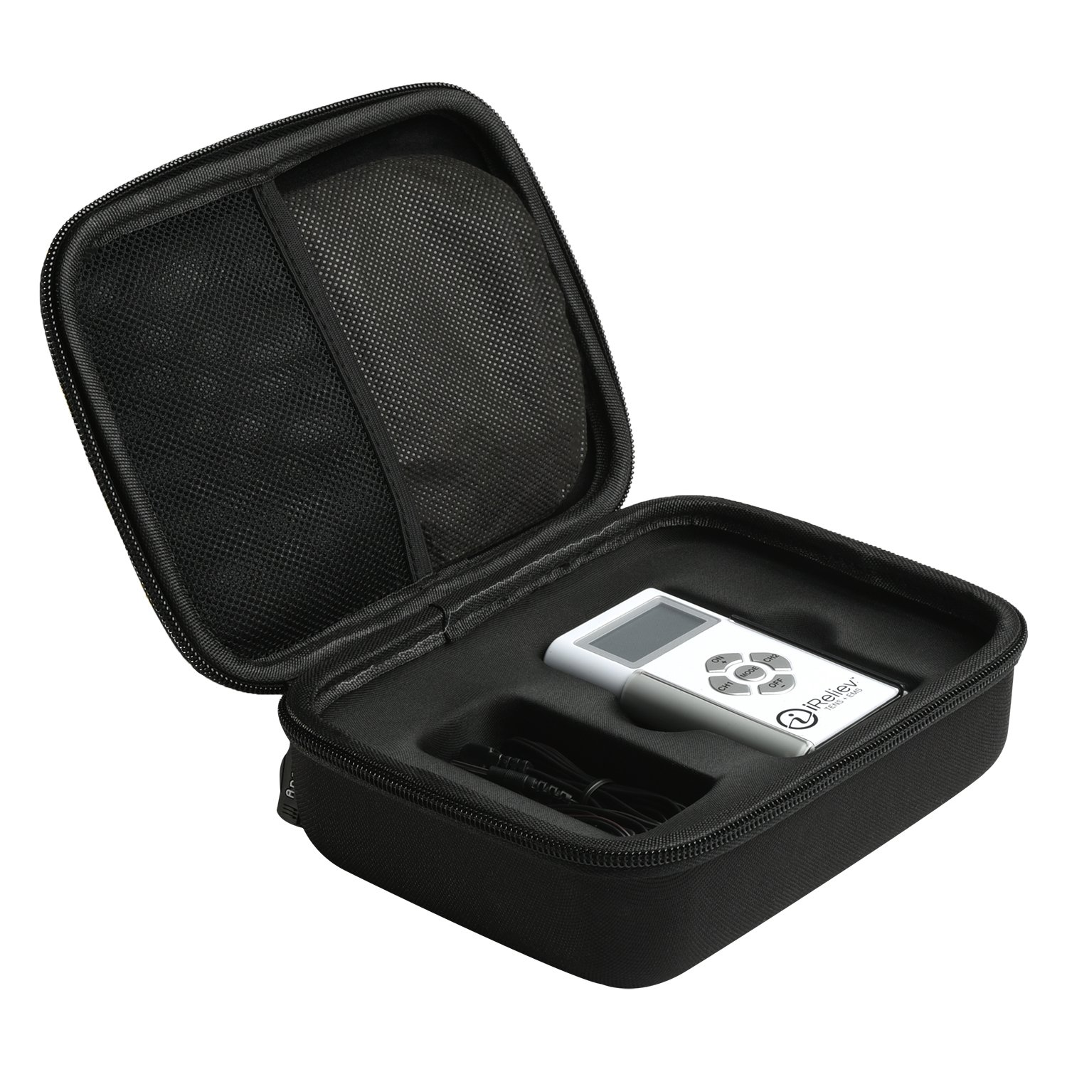 Hard Travel Carrying Case for iReliev TENS + EMS Combination Unit Muscle Stimulator by Aproca