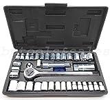 40-Piece Socket Tool Set Ratchet Set METRIC/SAE