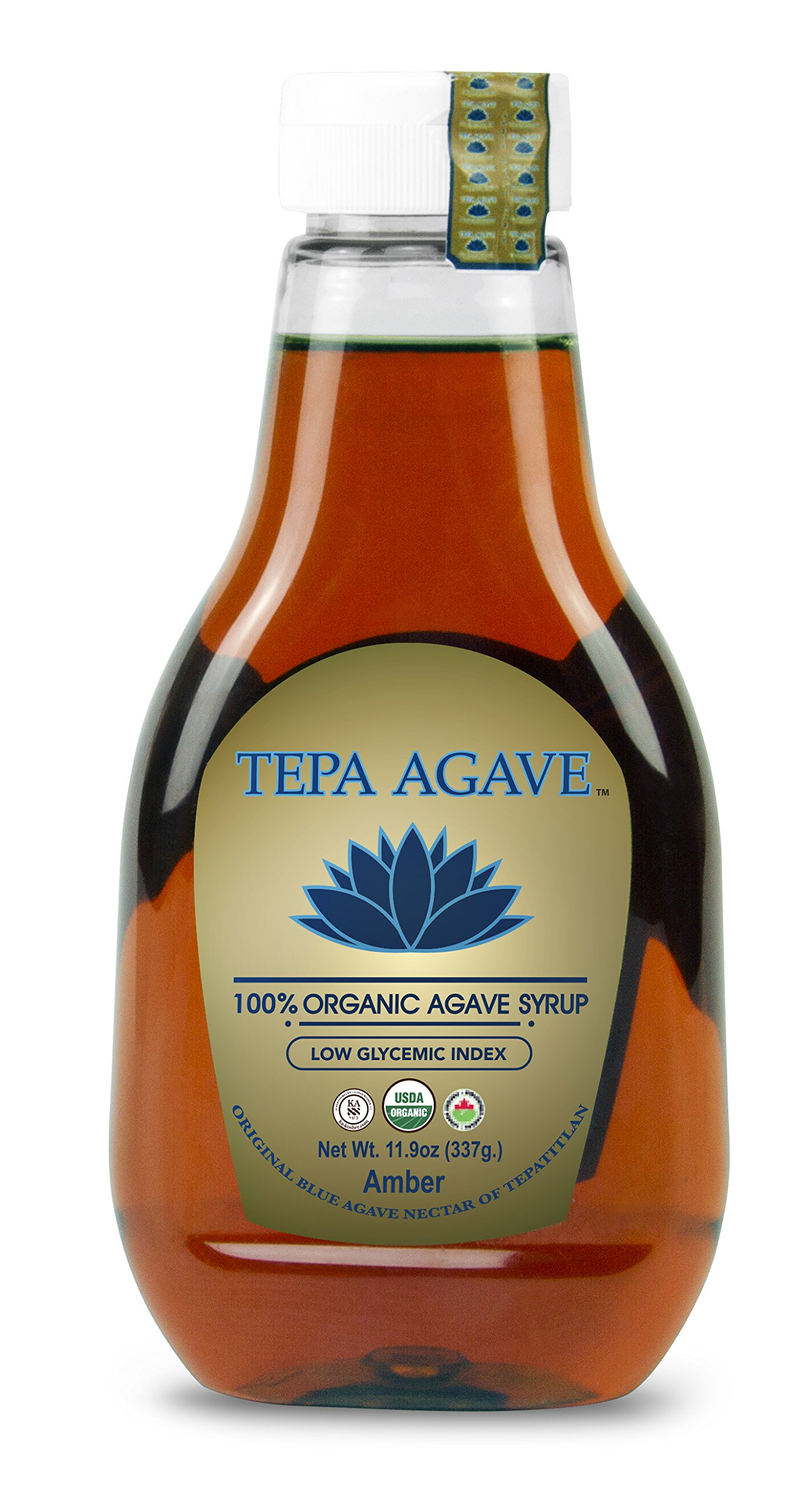 Tepa Agave Amber Sweet Organic Blue Agave syrup Low-Glycemic Sweetener Agave Nectar 23.8 0z