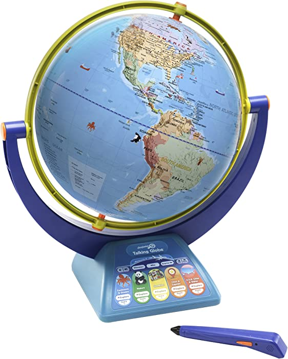 Educational Insights GeoSafari Jr. Talking Globe Featuring Bindi Irwin, Globes for Kids, Interactive Globe with Talking Pen, Ages 4+