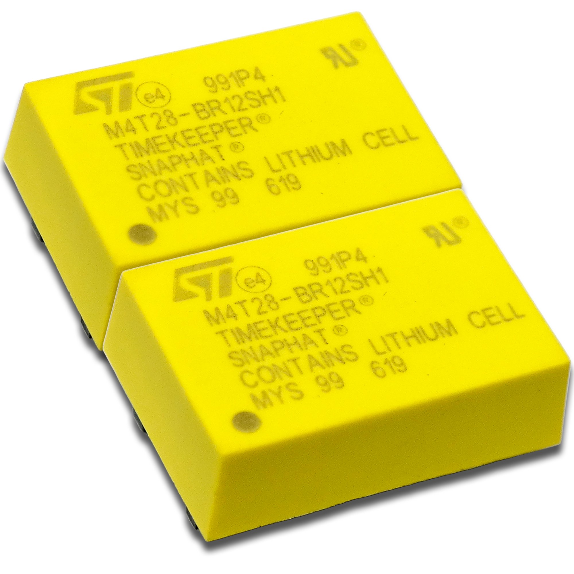 STMICROELECTRONICS ((2-PCS)) M4T28-BR12SH1 IC, BATTERY/CRYSTAL SNAPHAT, SNAPHAT-28,