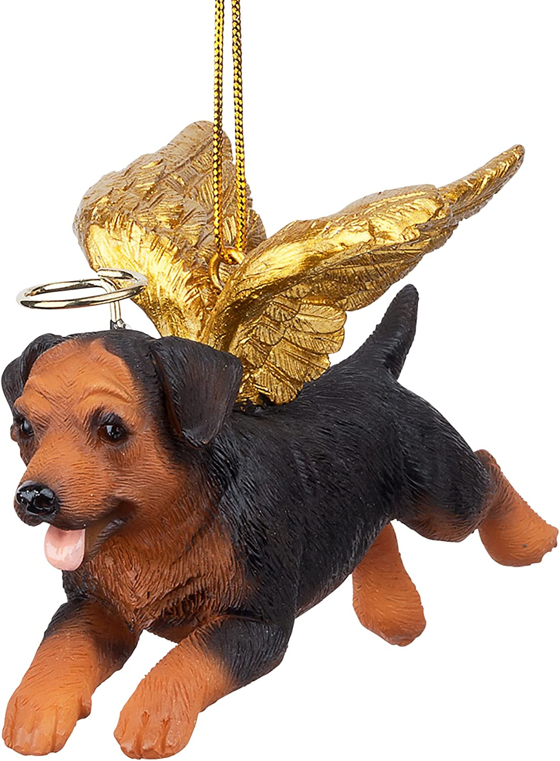 Design Toscano Jh170727 Christmas Tree Ornaments Honor The Pooch Rottweiler Holiday Angel Dog Ornaments Multi Multicolor Home Kitchen