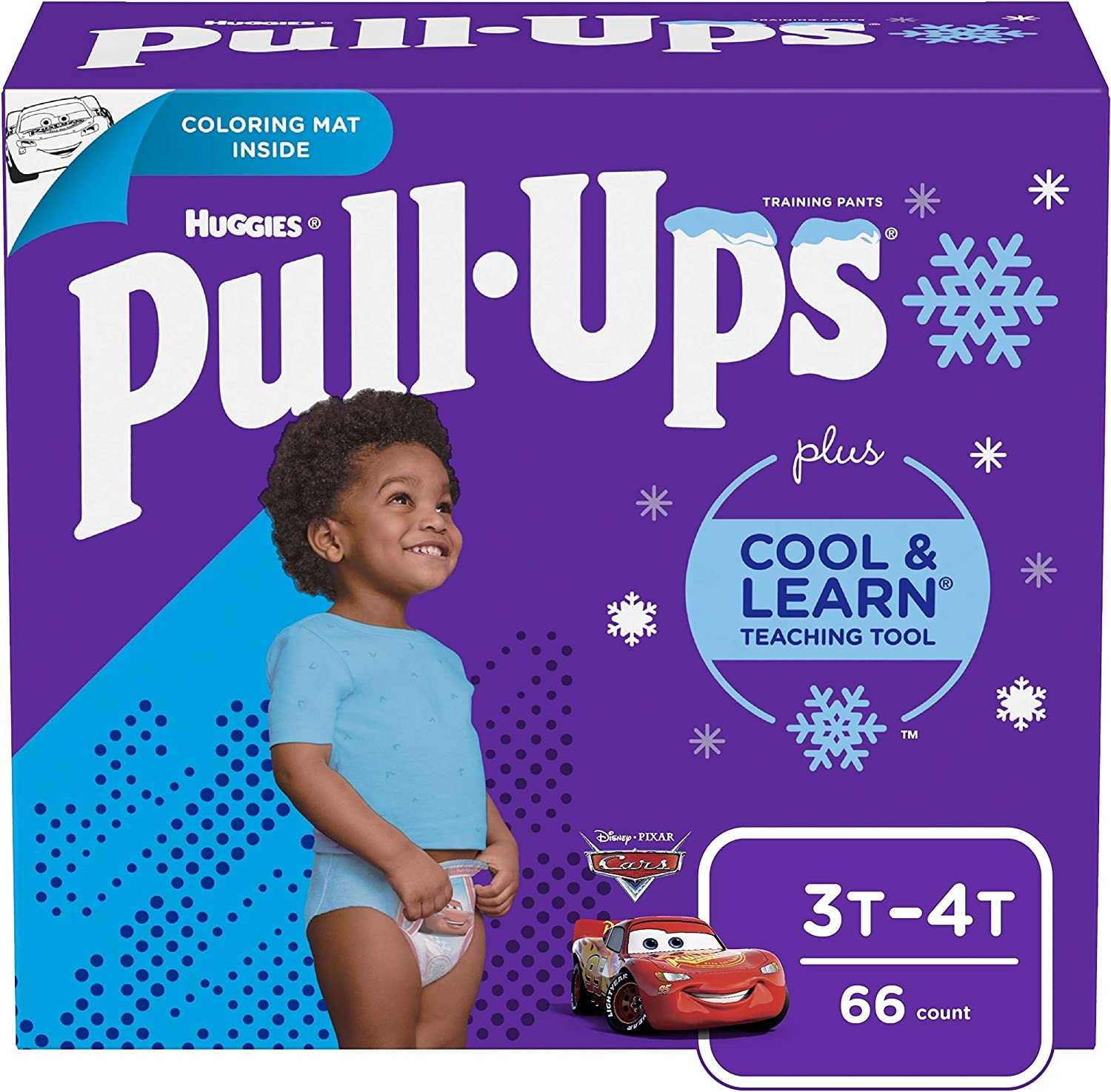 Pull-Ups Cool & Learn Boys' Training Pants, 3T-4T, 66 Ct (Packaging May Vary), Blue