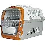 Catit Design Cat Cabrio Carrier Flight/ Airline Approved, Orange/ Grey/ White