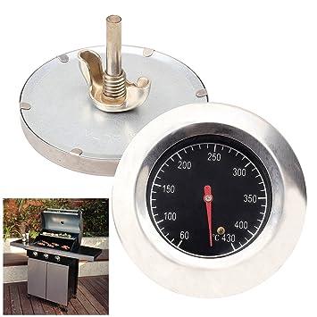 Baytter® Termómetro para barbacoa eléctrica, horno o barbacoa móvil, de acero inoxidable, hasta 430 °C: Amazon.es: Jardín