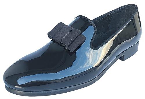 Amazoncom Justar Mens Black Patent Leather Loafers Prom Dress