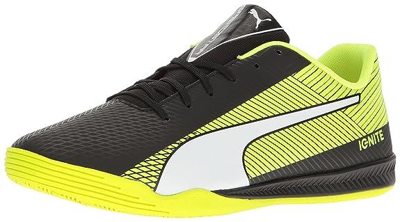 PUMA Men's Evospeed Star S Ignite Soccer Shoe, Asphalt Black/Quiet Shade White, 12.5 M US