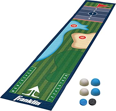 Franklin Sports - Alfombrillas para juegos de mesa de shuffleboard - Tapetes de tablero y empujadores de mesa - Juegos de tetera interiores - 54235, Golf, Multicolor: Amazon.es: Deportes y aire libre