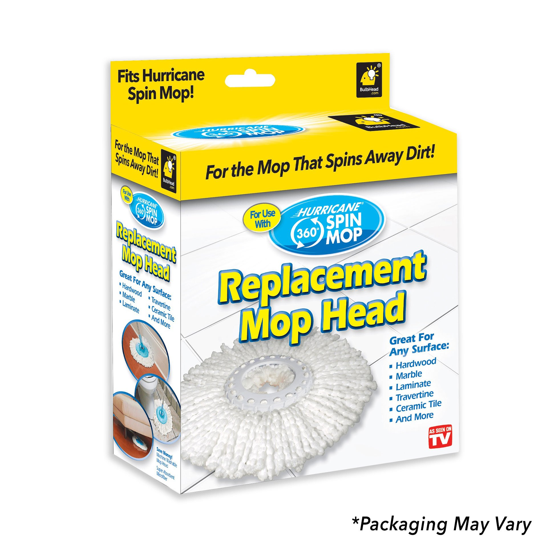 Hurricane Spin Mop Replacement Mop Head by BulbHead by Hurricane (Image #3)