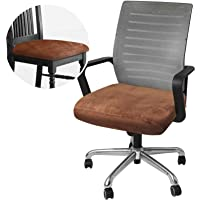 HDCAXKJ Chair Seat Covers for Dining Room Chairs Soft Velvet Office Chair Cover Set of 2 Stretchable Kitchen Computer…
