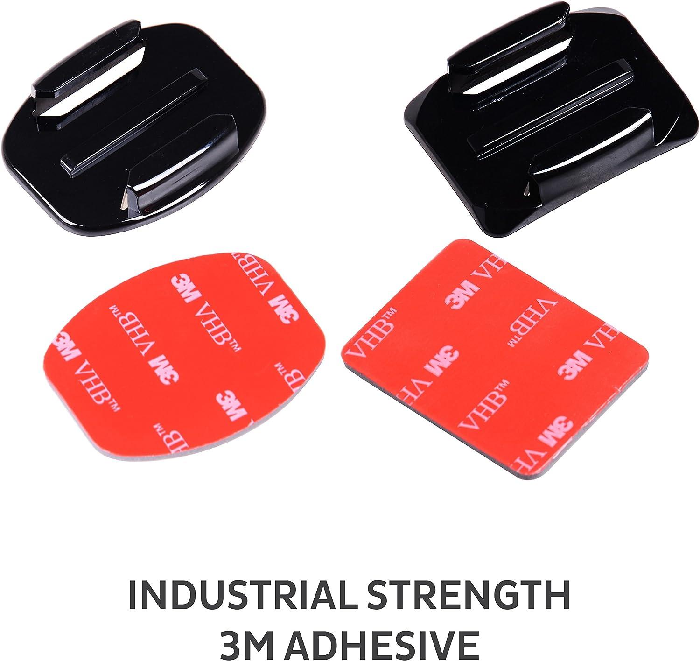 3 2 1 8x base curvada Almohadilla Adhesiva 3M Kit de montaje casco Compatible Con GoPro 4 3