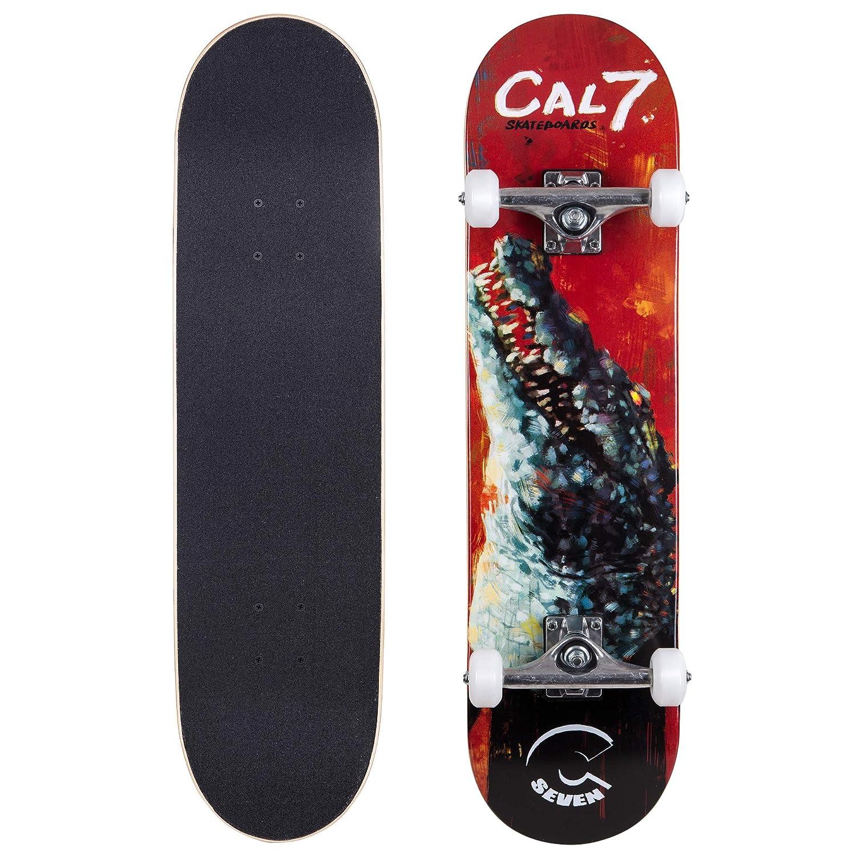 超歓迎 Cal 7 7 Complete 8インチスケートボード、Popsicleスタイルwith 5.25インチTrucks & 100 & 100 Aホイール子供&大人(8