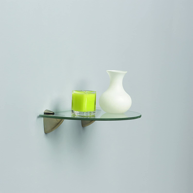 Amazon.com: John Sterling Shelf-Made KT-0134-812SN Curved Glass ...