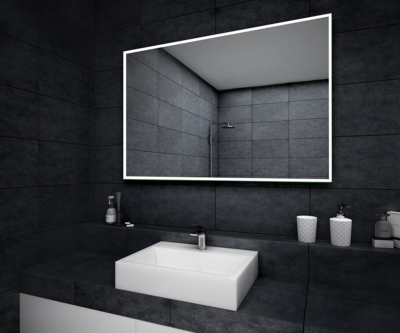 Beau Miroir Salle De Bain Lumineux LED 100x70cm