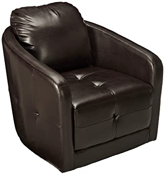 Amazon.com: Christopher Knight Home 295179 Concordia Swivel Chair, Brown:  Kitchen U0026 Dining