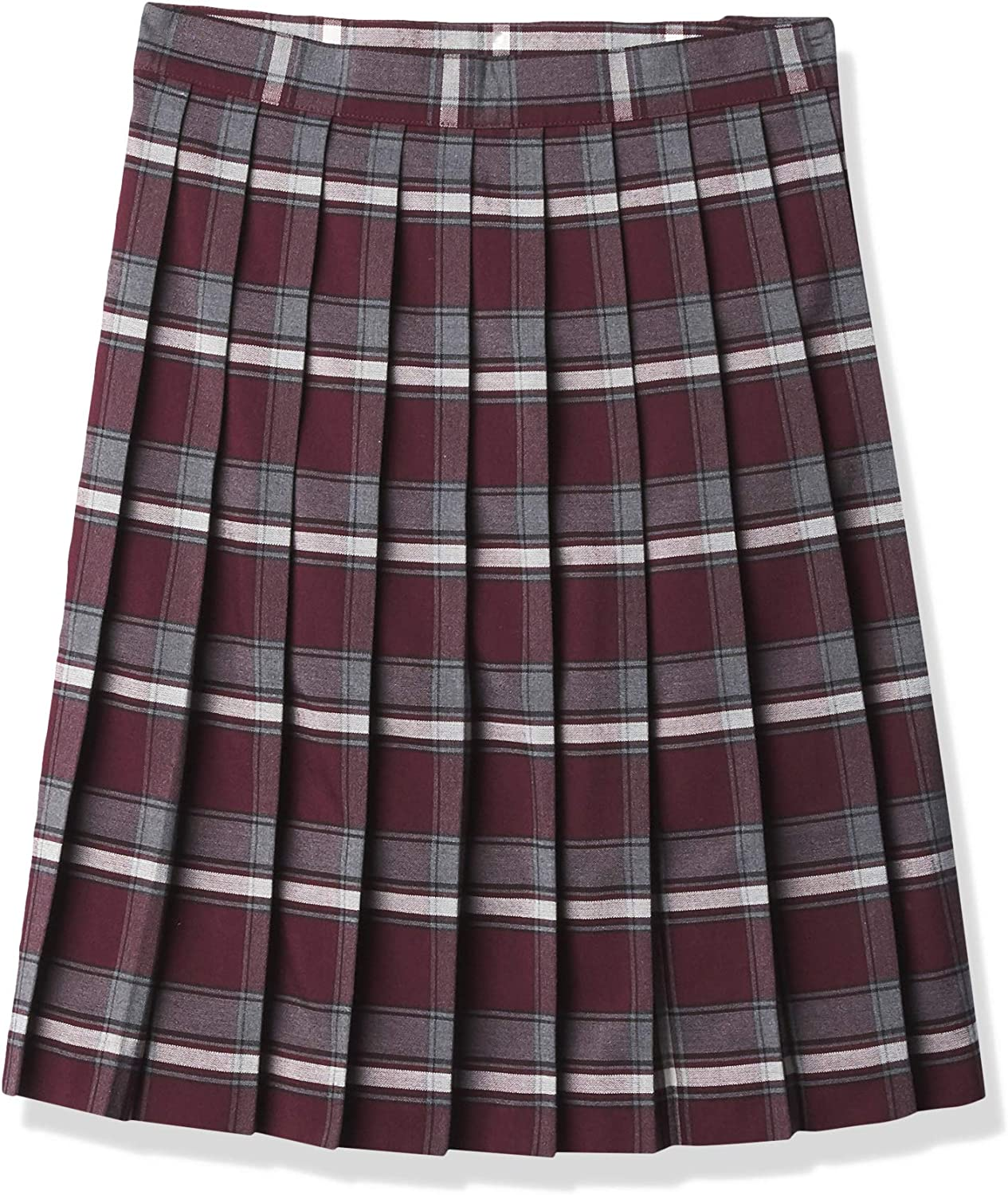 French Toast Girls' Mid Length Plaid Pleated Skirt: Clothing