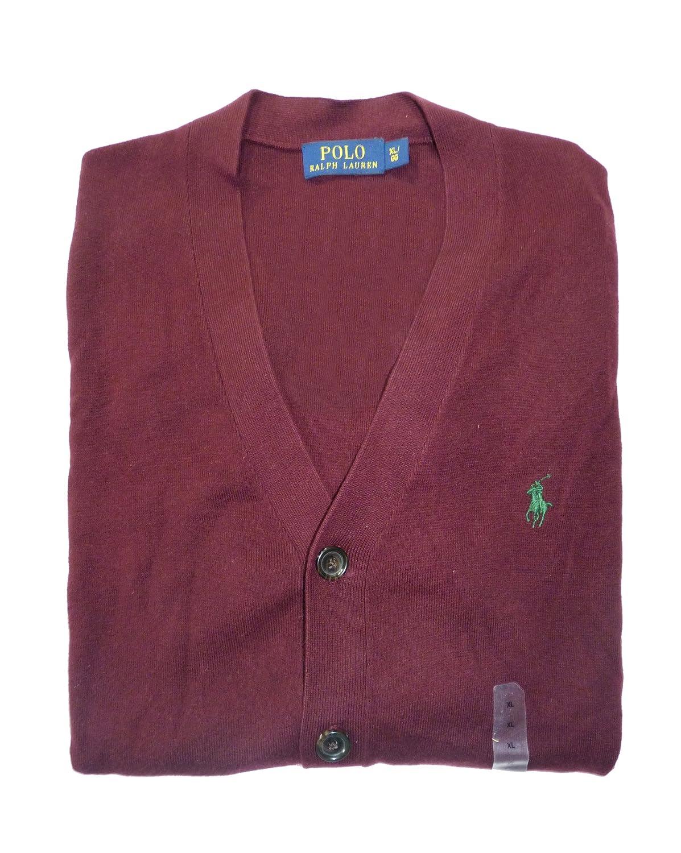 Ralph Lauren Chaleco Cardigan Polo Pima algodón Granate XXL ...