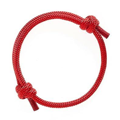 9a0ee2668f8d Wind Passion Pulsera Roja Marinera de Cuerda Impermeable Hombre  Amazon.es   Joyería