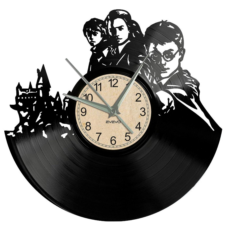 EVEVO Reloj de Pared de Harry Potter con diseño de Silueta Vintage ...