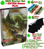 Dungeons Dragons Starter Set 5th Edition - DND Starter Kit - Dice in Black Bag - Fun DND Rolling Board Games Adults Adult Magic Board Game 5e Beginner Popular Pack Die Book
