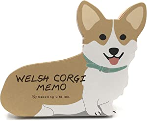 "Welsh Corgi Dog Die-cut Memo Pad 4.75""x4"" 90 Sheets"
