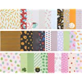 32-Sheet Scrapbook Paper Pad - Designer Paper - Ideal for Scrapbooking and Crafting, 6 Holiday Themes and 32 Unique Designs, 12 x 12 Inches