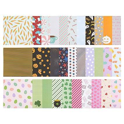 Amazon 32 Sheet Scrapbook Paper Pad Cardstock Paper Designer