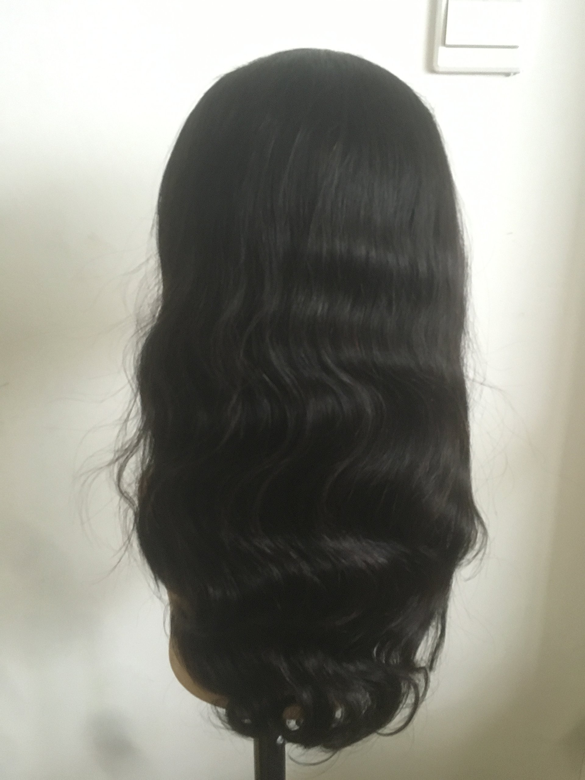 100% top quality indian remi full lace wig 16inch