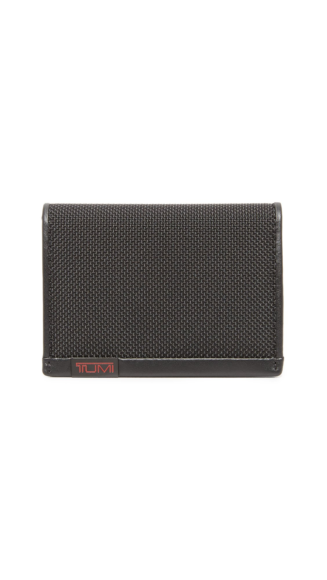 Tumi Alpha Gusseted Card Case with ID,Black,one size