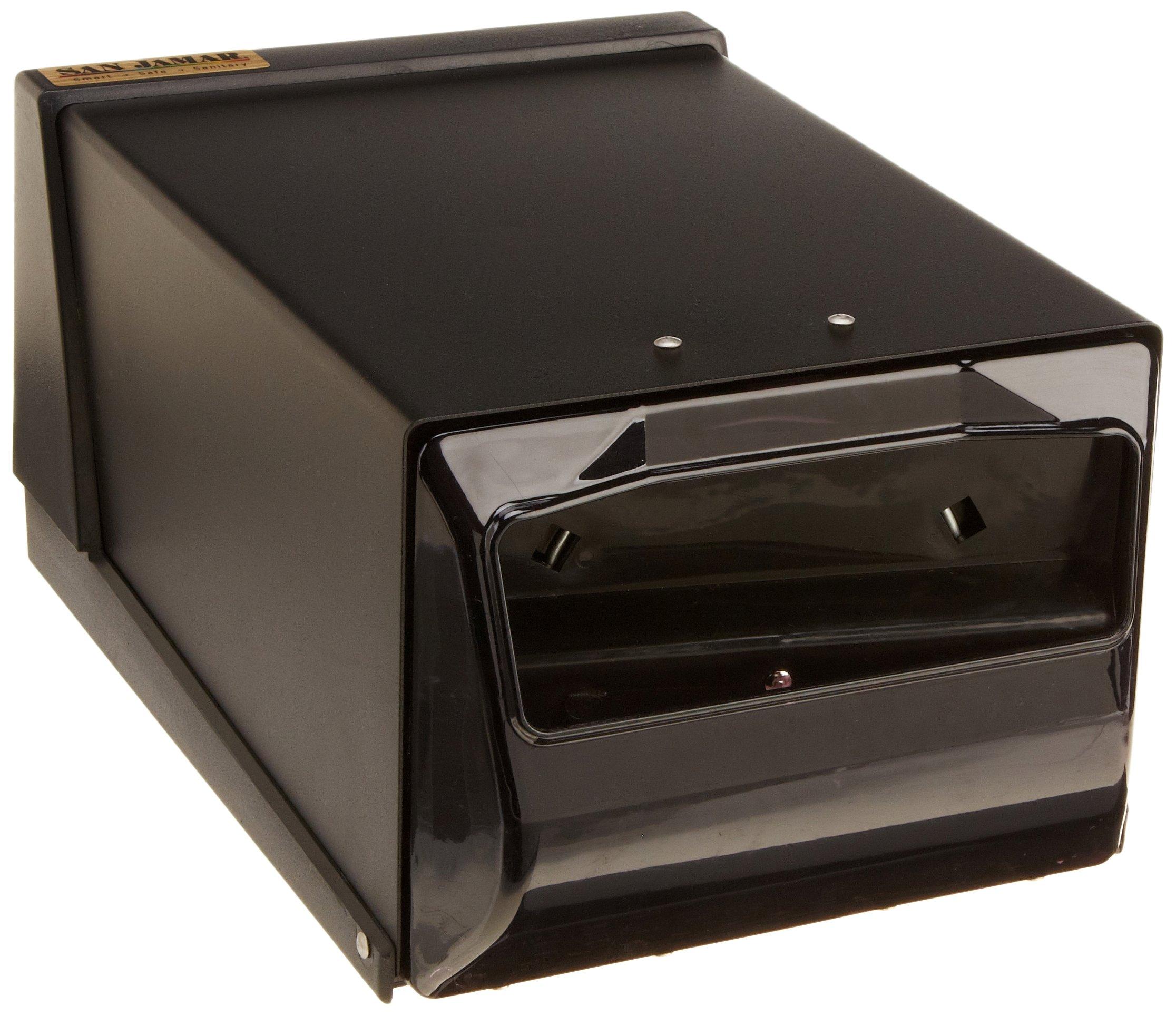 San Jamar H3001 Countertop Fullfold Napkin Dispenser, 300 Capacity, 7-5/8'' Width x 5-1/2'' Height x 11'' Depth, Black Pearl/Black