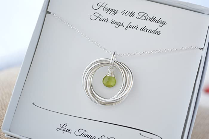 Amazon 40th Birthday Necklace 4th Anniversary Gift For Women