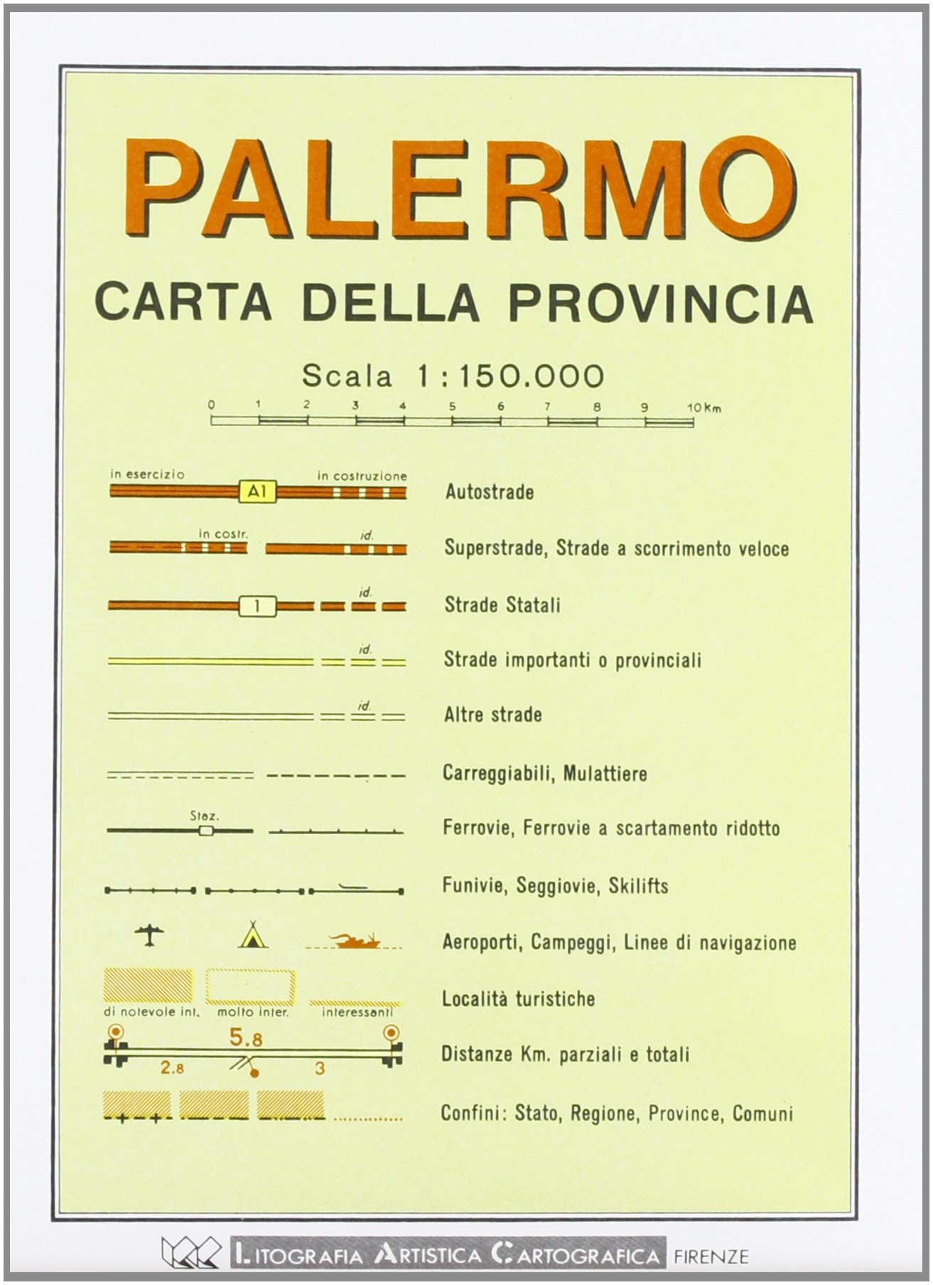 Palermo Provincial Road Map (1:150, 000) (Italian Edition) pdf