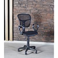 Sandalye Ofis Ev Sekreter Pc Koltuğu Fileli Siyah