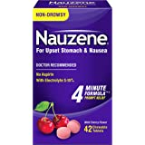 Nauzene Upset Stomach & Nausea Chewable Tablets Flavor, Wild Cherry, 42 Count (Pack of 1)