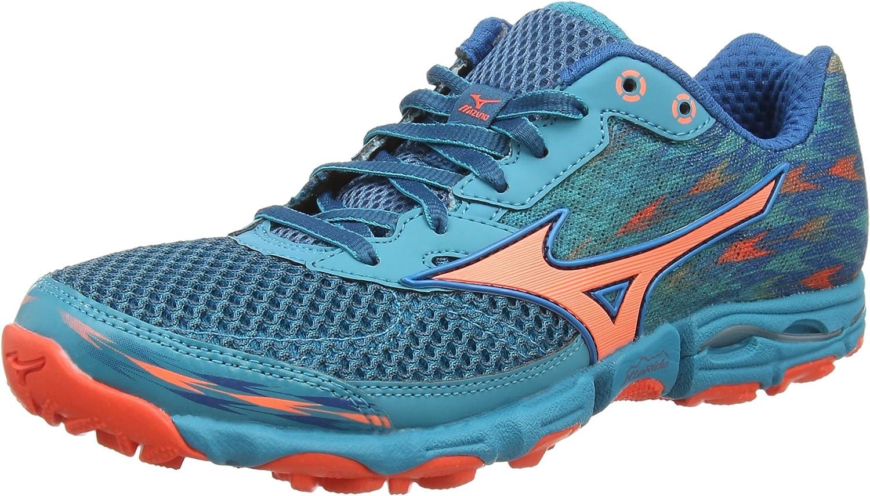 Mizuno Wave Hayate 2, Zapatillas de Running Mujer, Turquesa (Capri ...