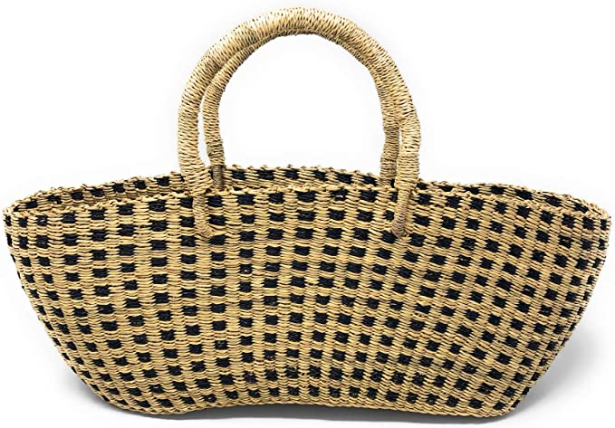 Hand braided bolga shopping bag from Ghana