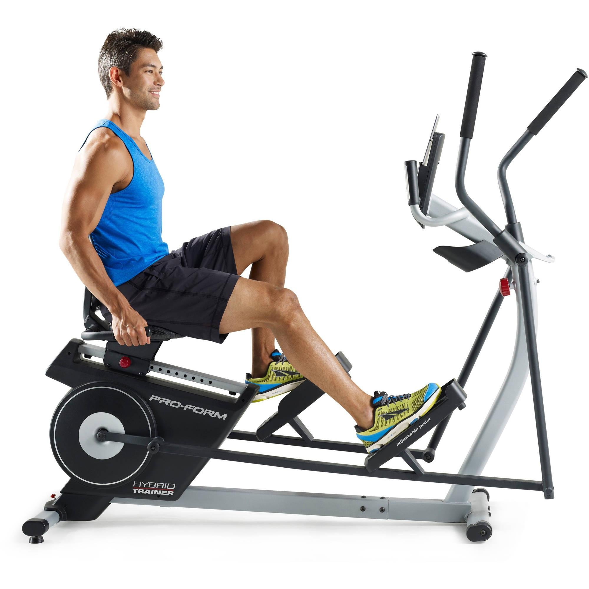 2-in-1 Double Elliptical and Recumbent Bike, Black by ProForm (Image #3)