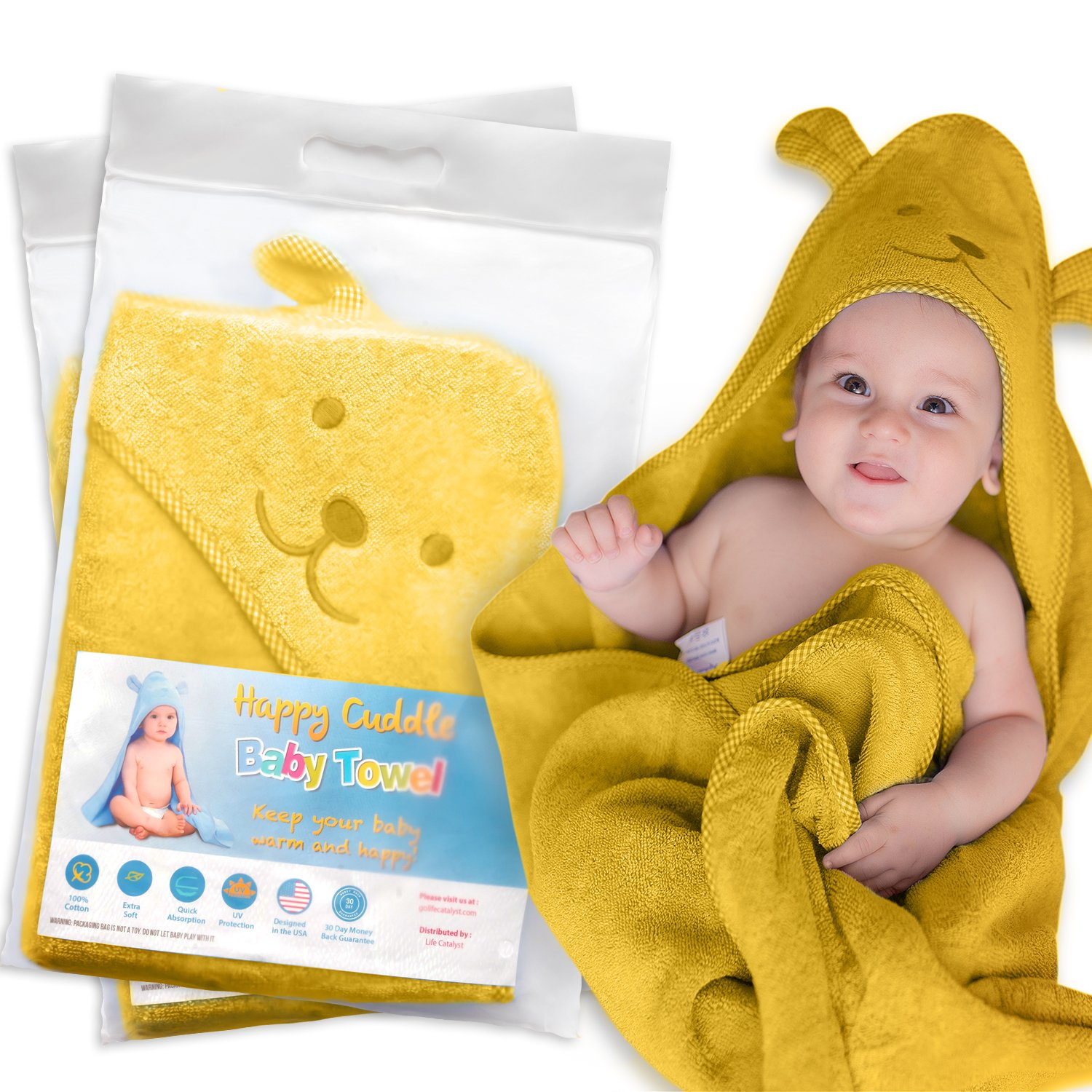 edfdacfc3 Amazon.com   Hooded Baby Towel for Boys and Girls Extra Soft 100 ...
