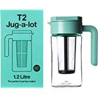 T2 Tea Jug-a-Lot Iced Tea Jug, BPA Free, with Removable Infuser, 1.2L, Aqua, H999ZZ247