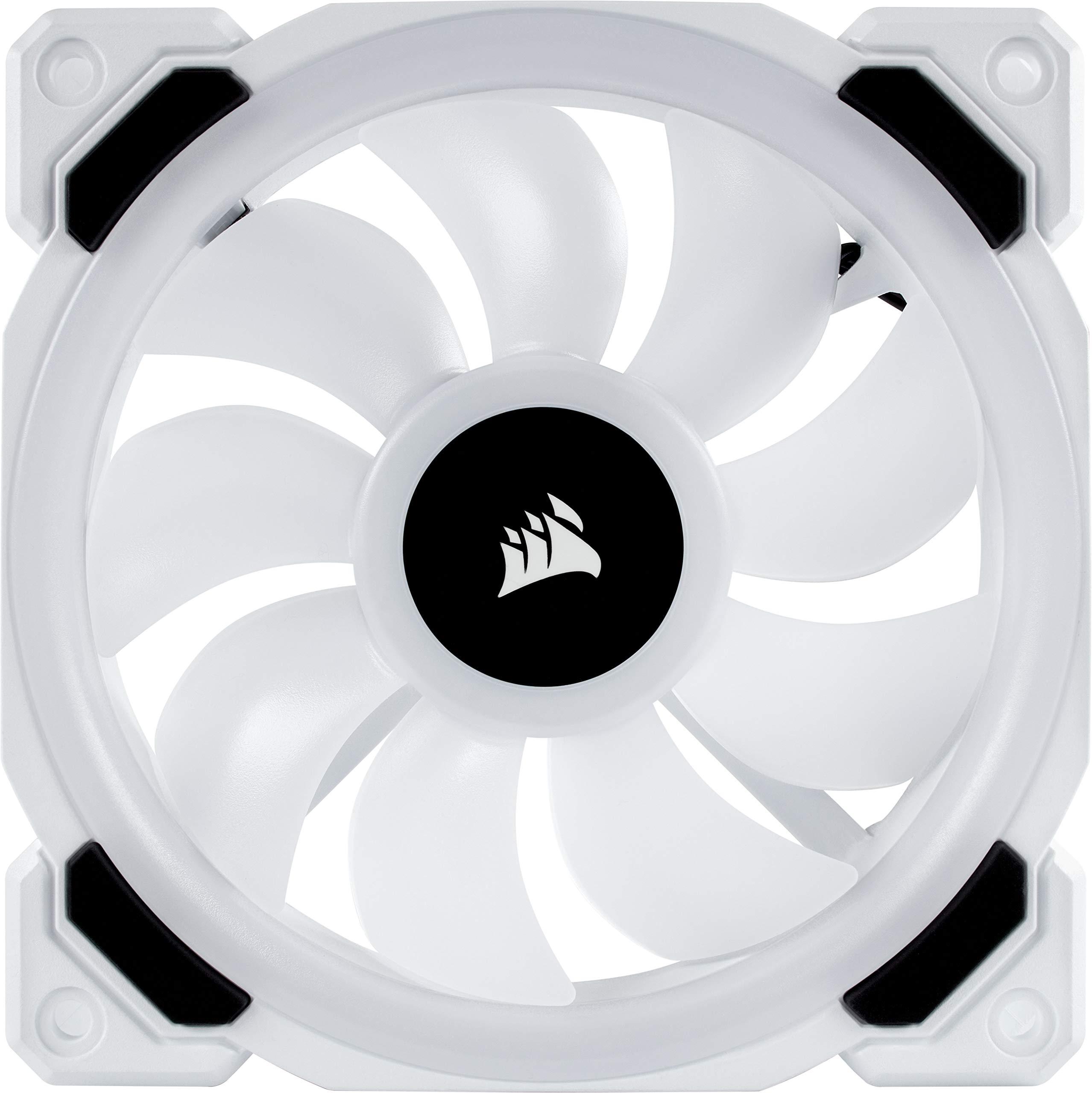 CORSAIR LL Series, LL120 RGB, 120mm RGB LED Fan, Triple Pack with Lighting Node PRO- White by Corsair (Image #17)
