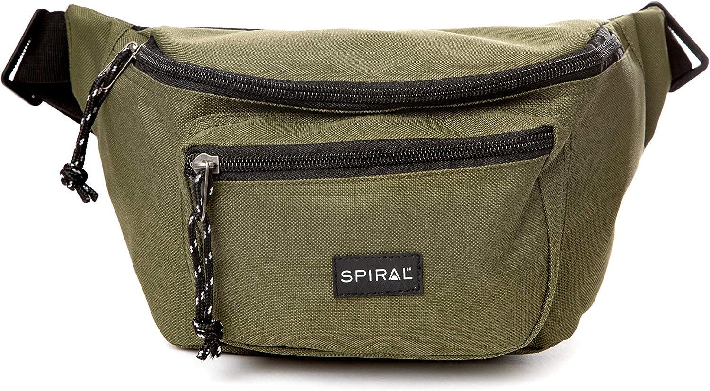 3 liters,Green 25 cm Olive Sport Waist Pack Spiral OG Bum Bag
