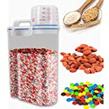 YNSKT Pantry Organization and Storage for Cereal Pasta Flour Beans - Kitchen Food Storage Container – Airtight BPA-Free Rice