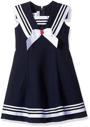 Amazon.com  Bonnie Jean Girls  Big Sleeveless Fit and Flare Nautical ... 637cad7b6