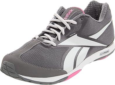 09feffde0e6f74 Image Unavailable. Image not available for. Colour  Reebok Slimtone Womens  Gray Mesh Walking Shoes Size 6 UK