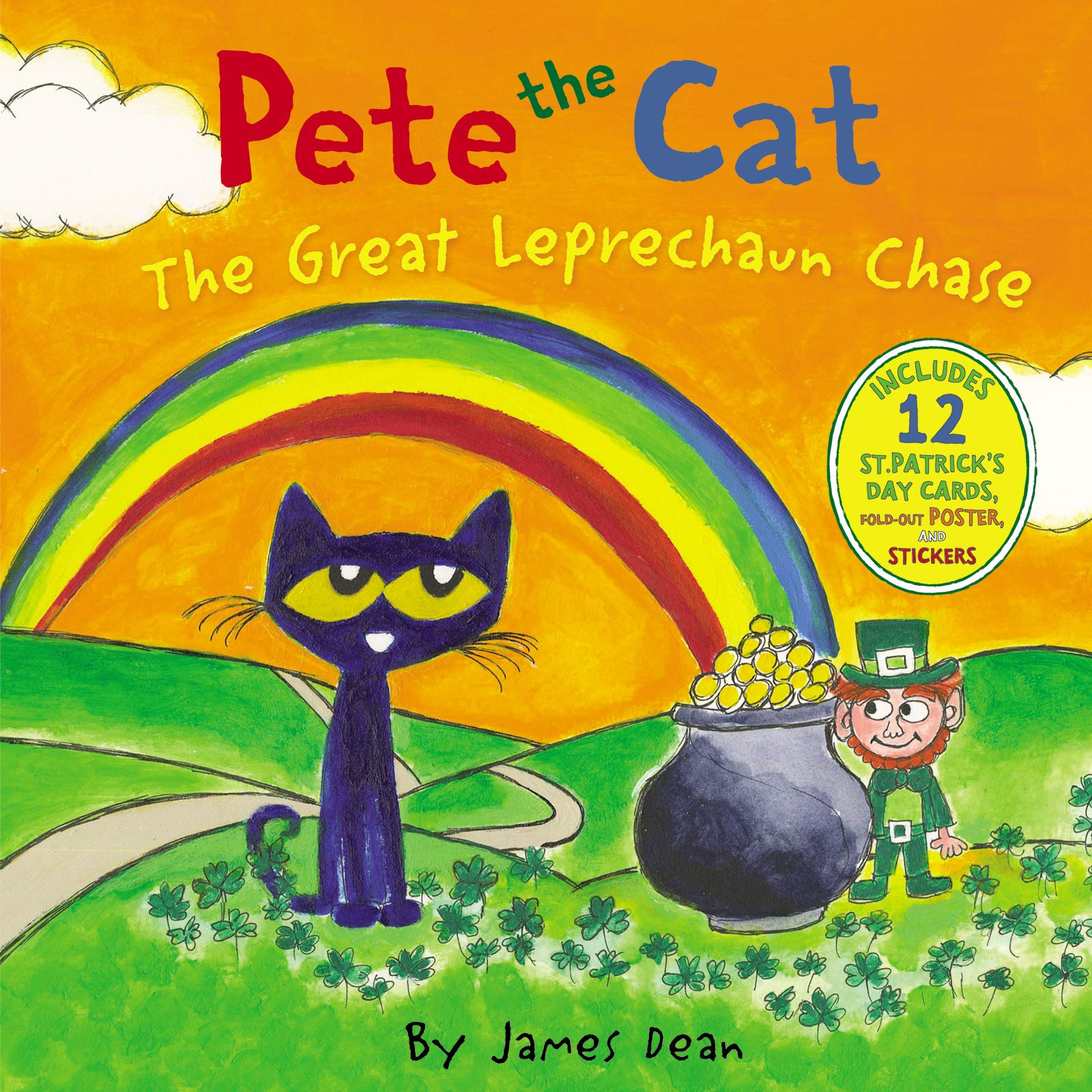 dda18be4e1c71 Pete the Cat: The Great Leprechaun Chase: Includes 12 St. Patrick's Day  Cards, Fold-Out Poster, and Stickers!: James Dean: 9780062404503:  Amazon.com: Books