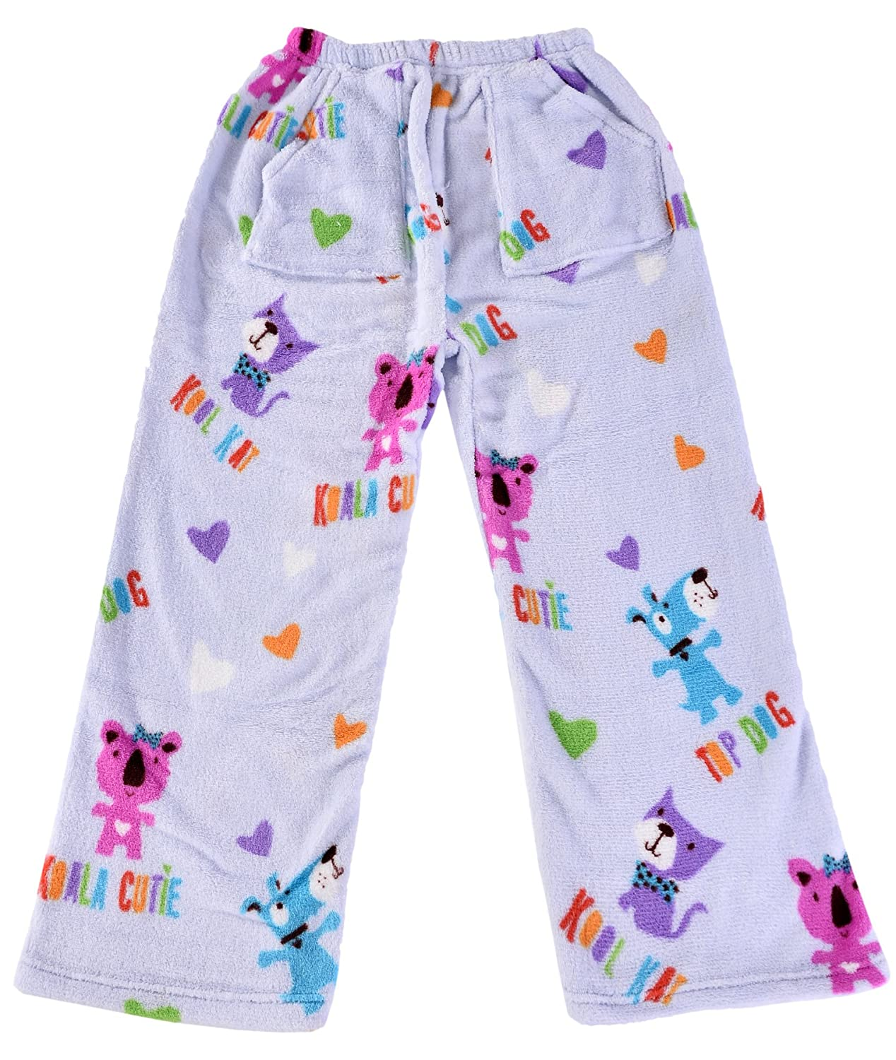 iscream Big Girls' Heavyweight Fun Print Plush Fleece Pants The Mines Press Inc. 820-PP